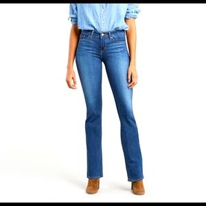 Levi's 515 Classic Bootcut Mid Rise Jeans Size 8